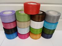 Caramel Gold  Sheer organza ribbon, 2, 10 or 25 metres roll, Double sided 3mm 9mm 15mm 25mm 40mm (1)